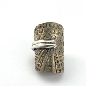 Custom made silver plate spoon ring size 9.25